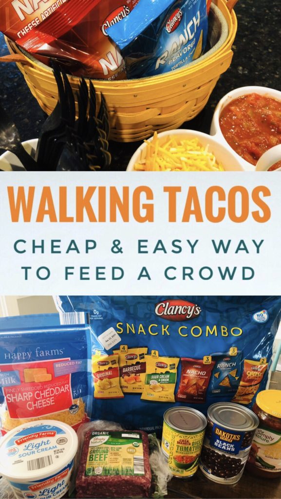 Serve Walking Tacos at your next party or gathering for a cheap and easy way to feed a crowd.