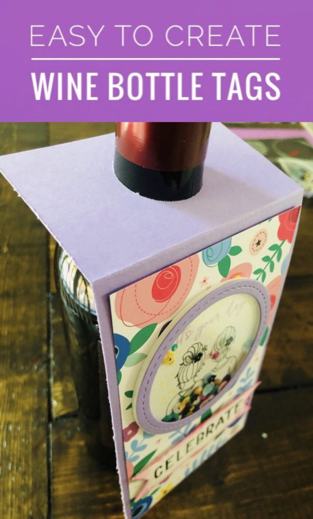 Create Your Own Wine Bottle Tag with Shaker Embellishment