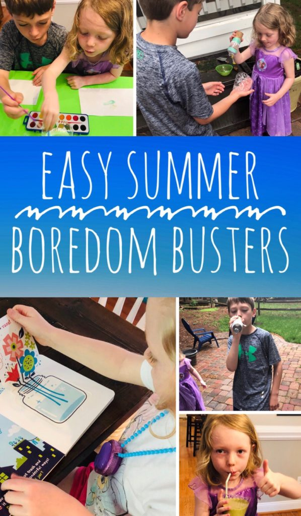 Easy Summer Boredom Busters for Kids - keep kids busy and keep your sanity by planning some simple activities.