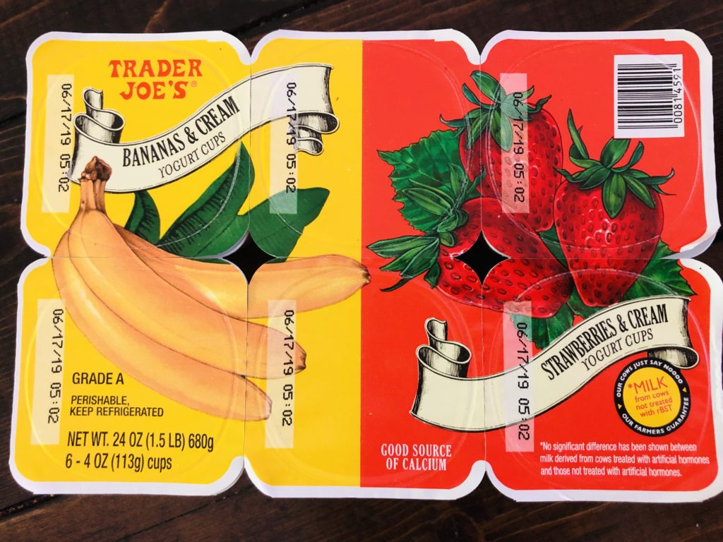Yogurt Cups from Trader Joe's