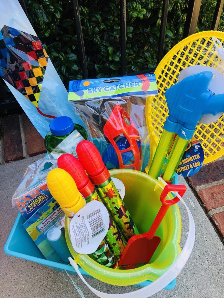 DIY Summer Fun Baskets from Dollar Tree