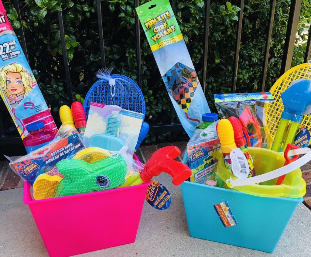 DIY Summer Fun Baskets from Dollar Tree