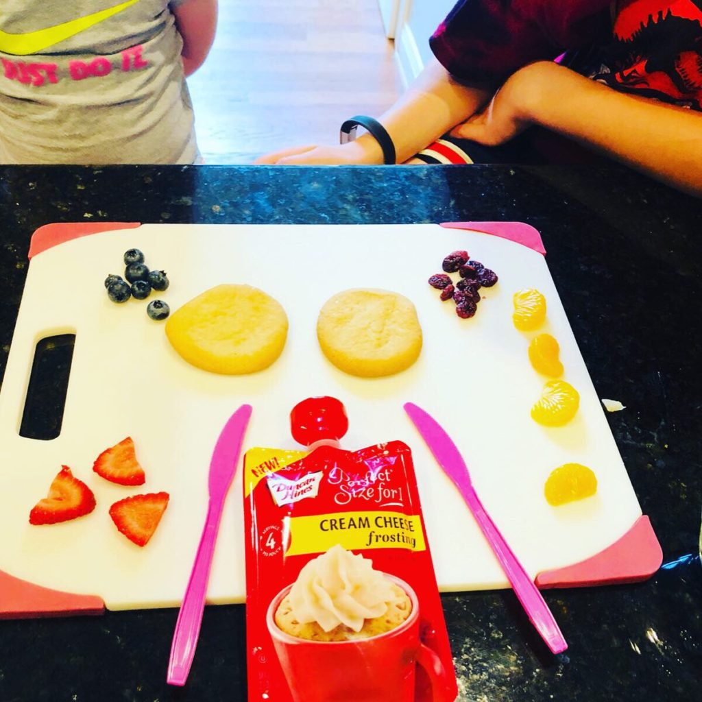 Kids Create Butterfly Fruit Cookies