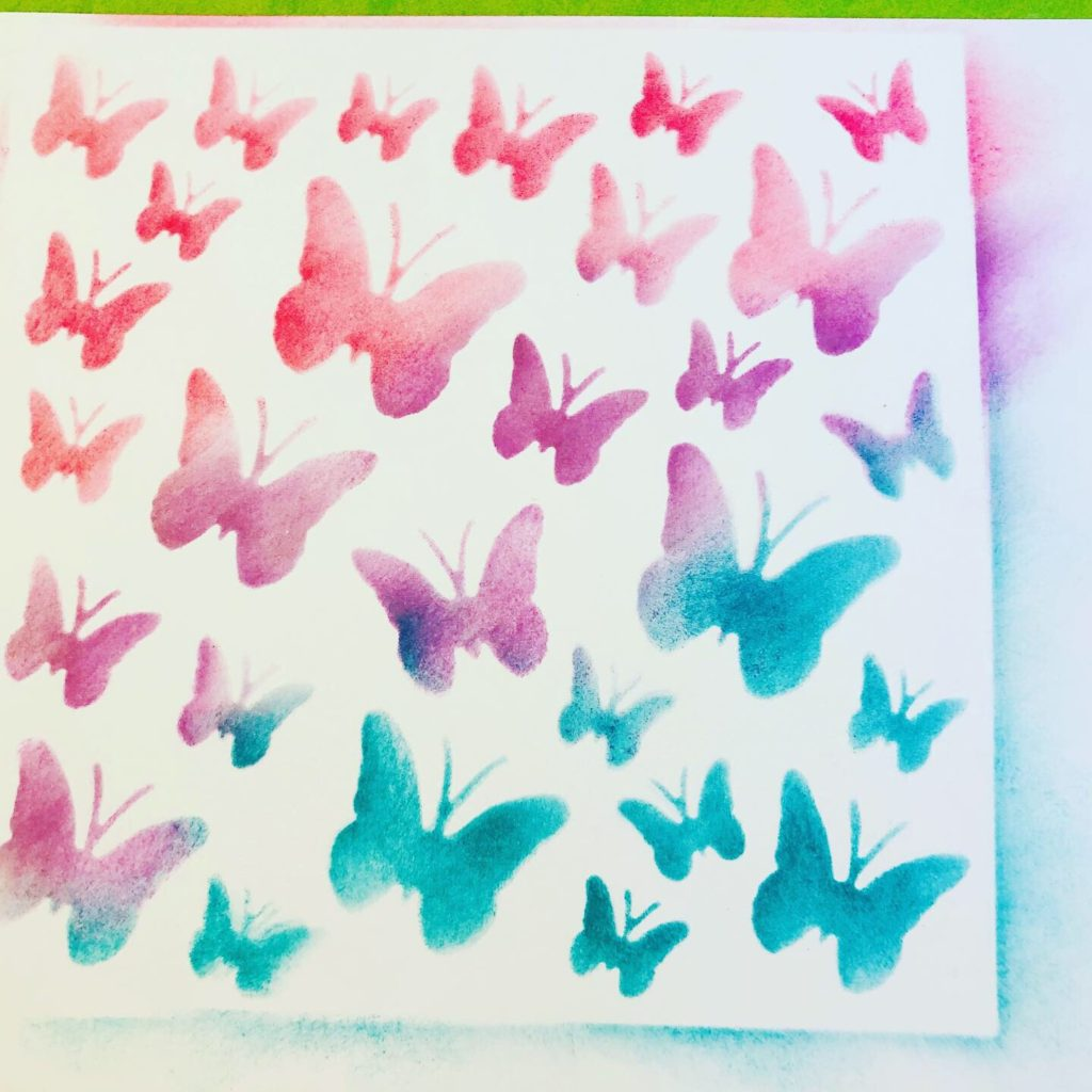 Butterfly Stenciled Cards