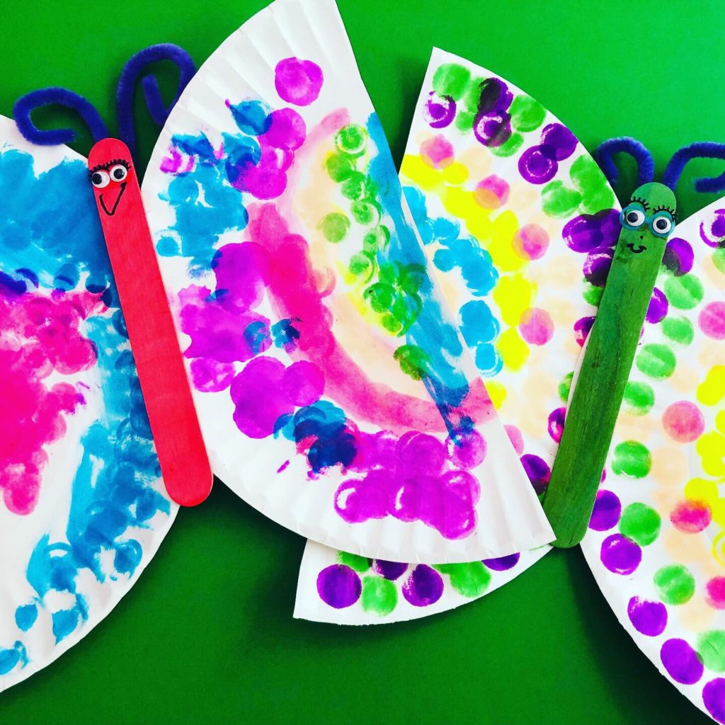 Paper Plate Butterflies using Dot Markers