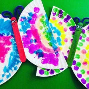 Paper Plate Butterflies using Dot Markers