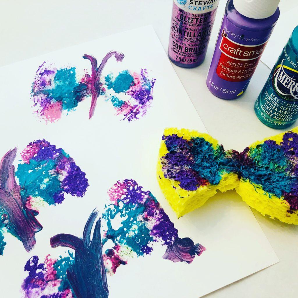 Sponge Painting Butterflies