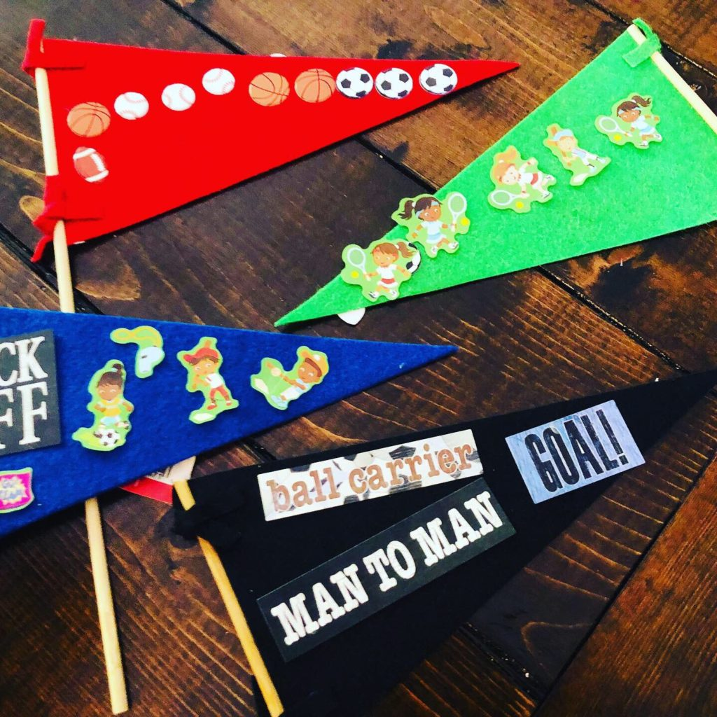 Sports Week Pennant Craft