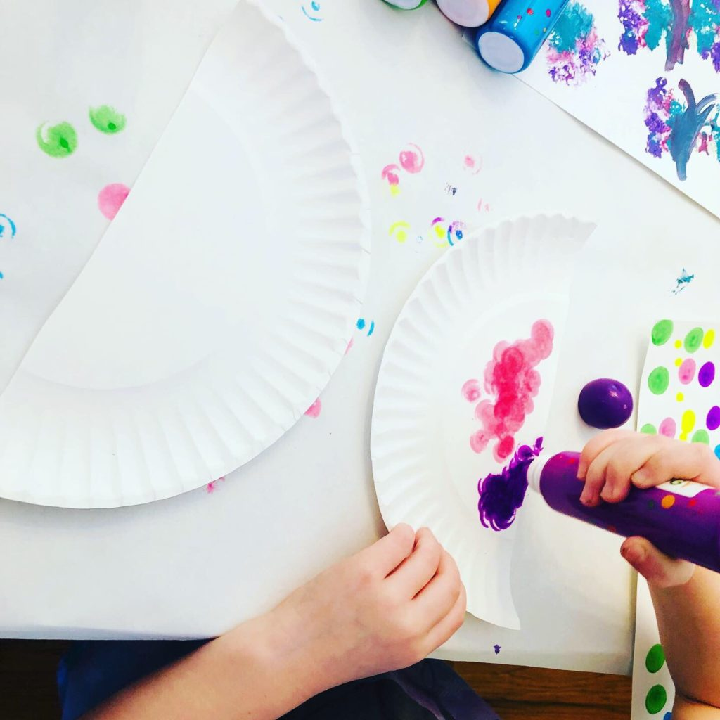 Paper Plate Craft with Dot Markers
