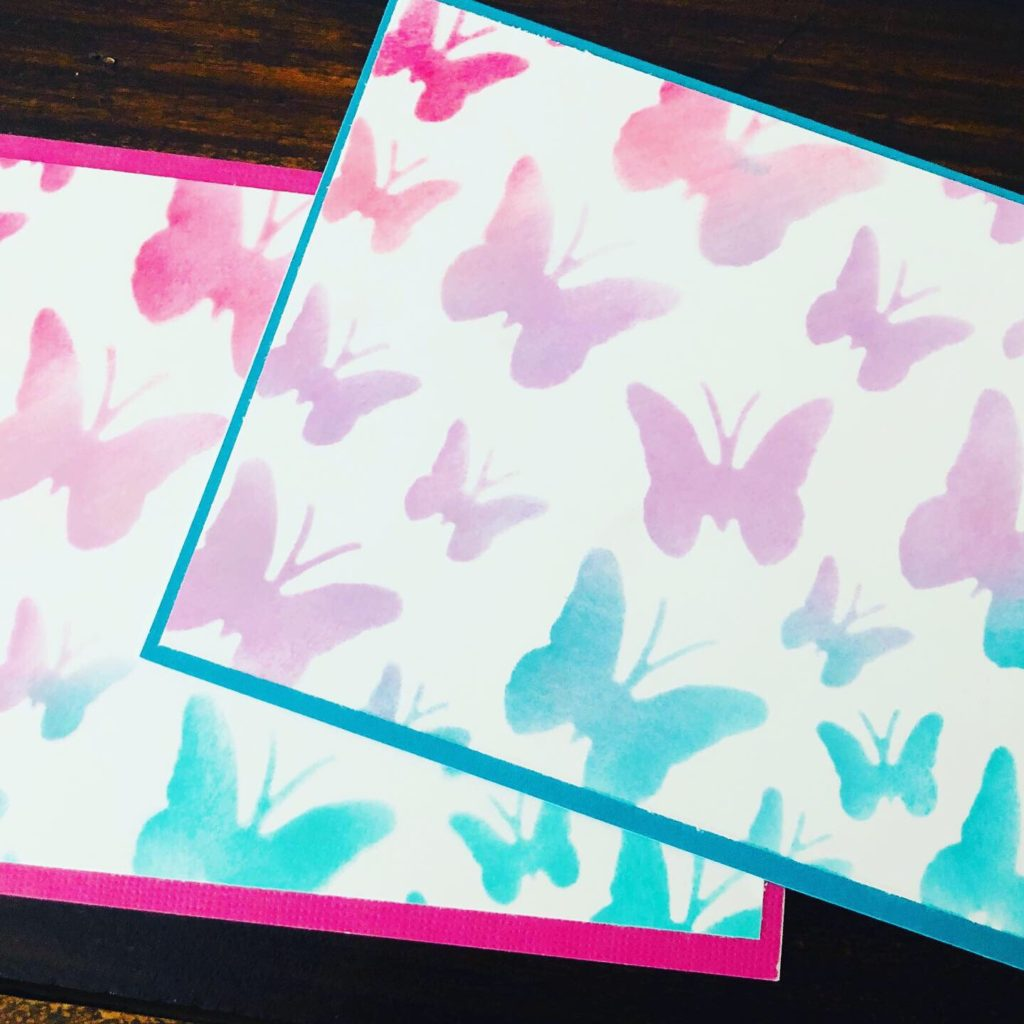 Butterfly Stenciled Notecards