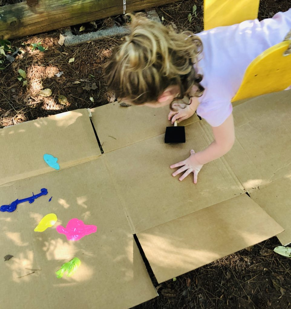 Swing Painting Art Activity for Kids