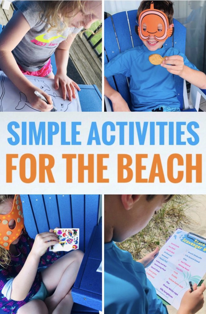 Simple Beach Activities for Kids - fun ways to keep the kids busy on your vacation!