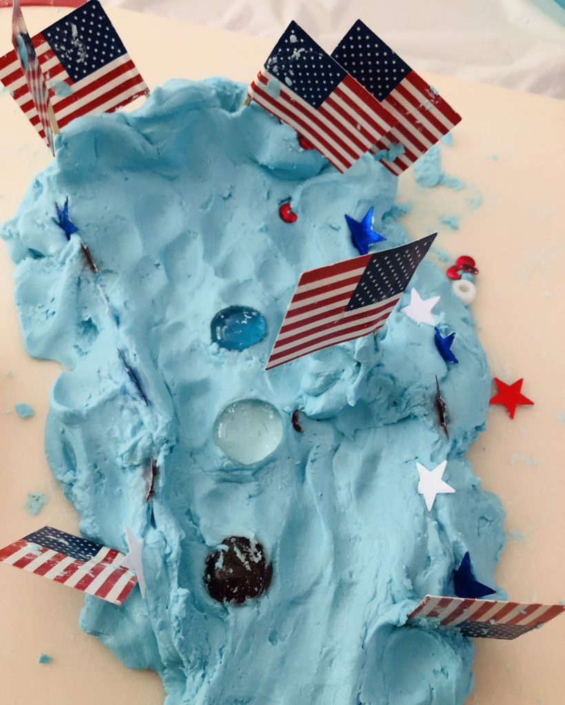 Patriotic Cloud Dough Creations
