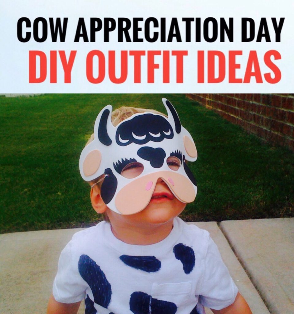 Cow Appreciation Day DIY Ourfit Ideas - super cute cow crafts for kids!