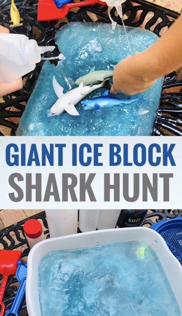 Ice Block Shark Hunt - Fun Summer Activity for Shark Week