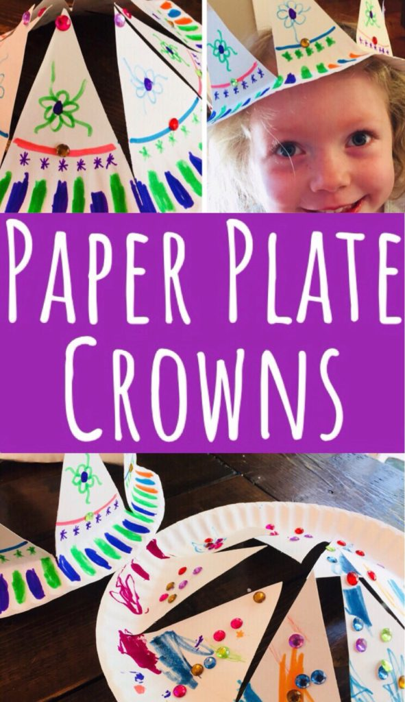 Paper Plate Crown Craft - easy and cheap craft for kids. Great for parties!
