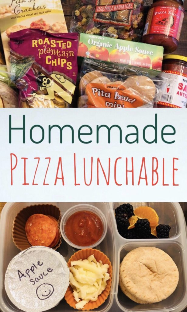 Looking for ideas on what to pack for school lunch? This easy Homemade Pizza Lunchable is a hit with kids and easy to create. Great recipe for Back to School!