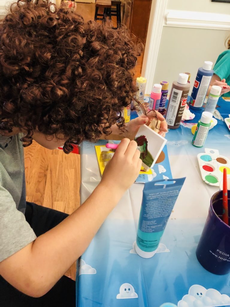 Bob Ross Painting Party for Kids