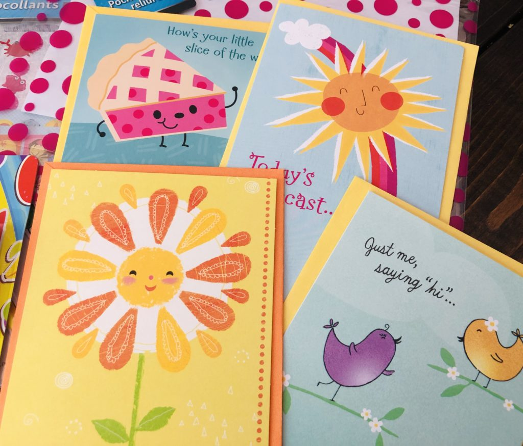 Pen Pal Kit Cards from Dollar Tree