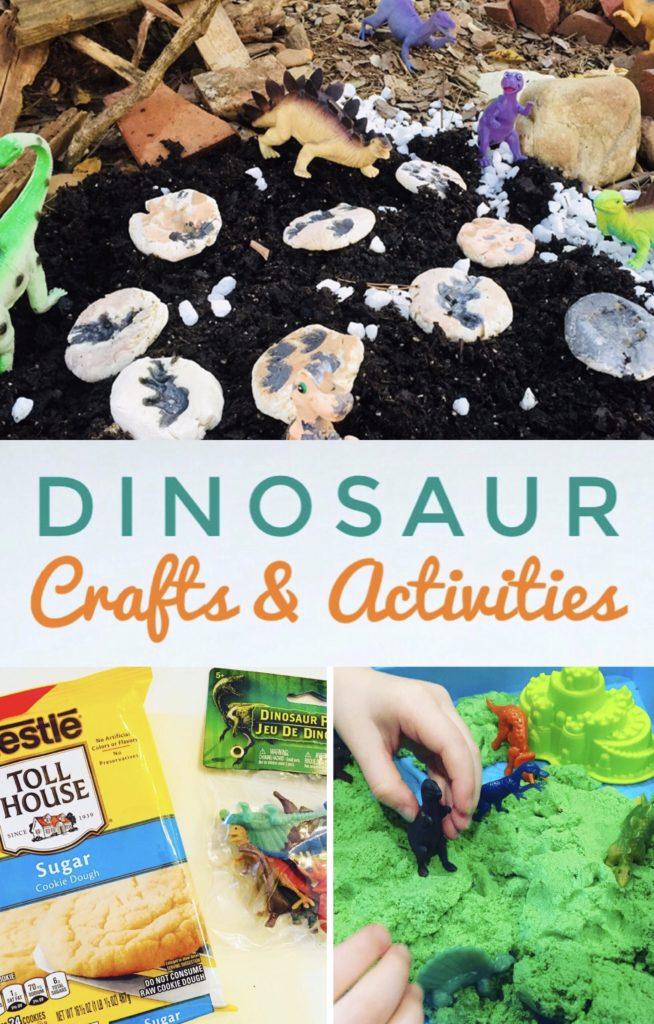 Dinosaur Themed Crafts and Activities for Kids