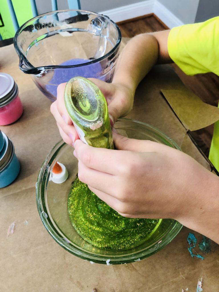 Making Glitter Slime