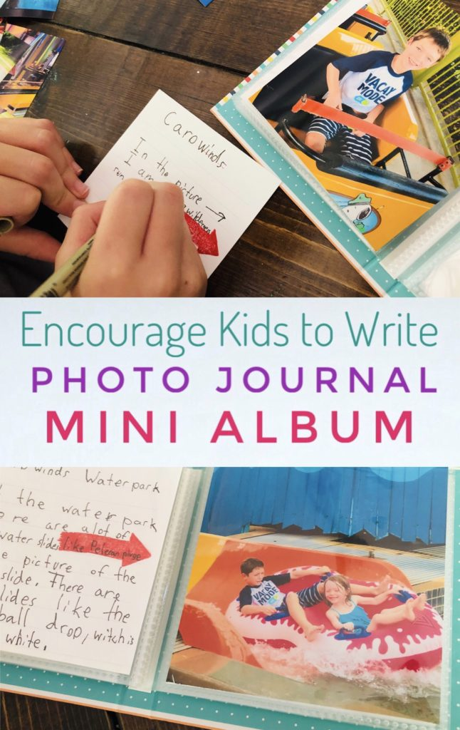 Have your kids create a summer photo journal album to record their memories! This fun activity is a great way to get them writing.