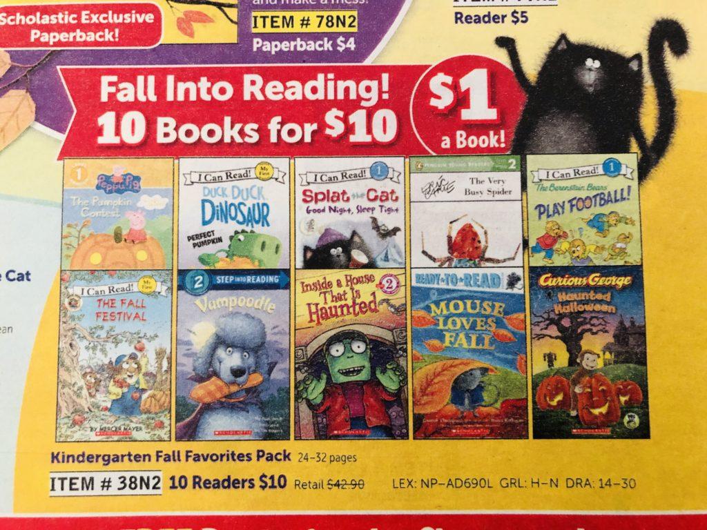 Fall Scholastic Book Packs
