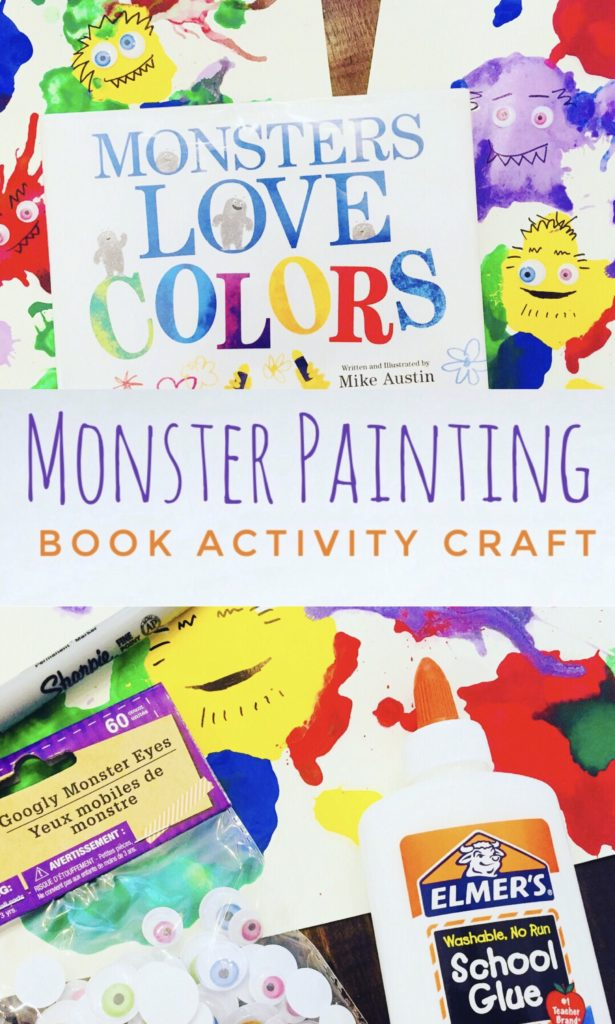 This fun Monster Blow Painting Book Activity for Kids is a bright and colorful art project based on the book Monsters Love Color.