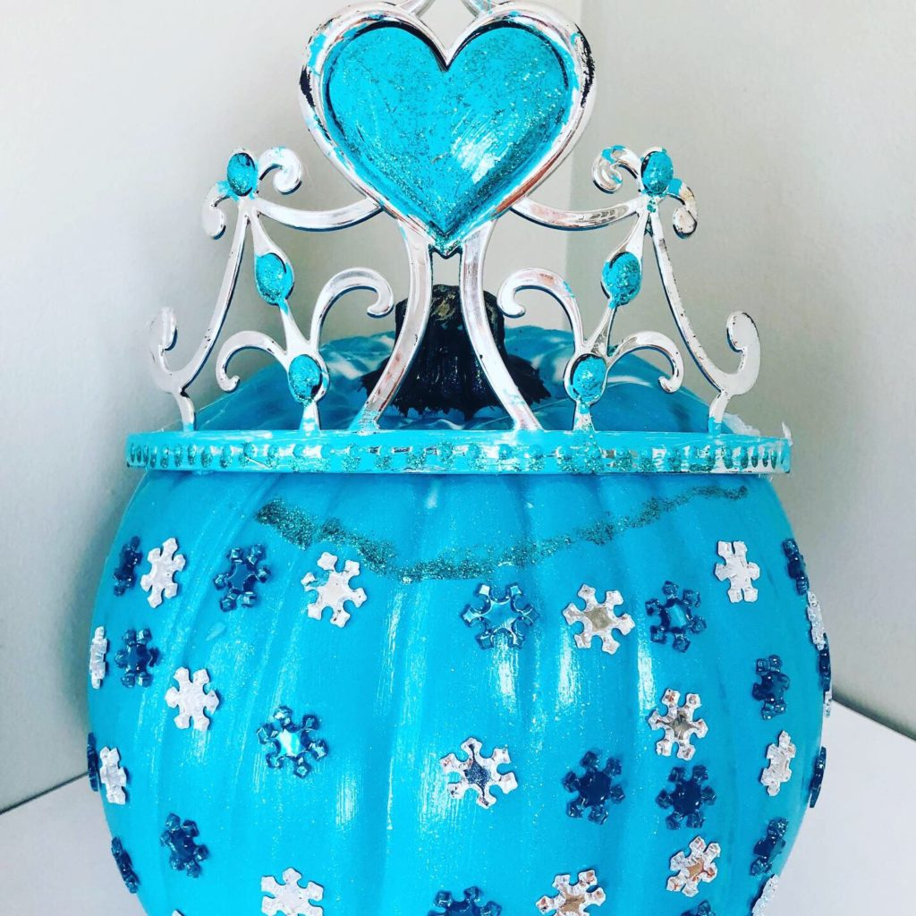 Frozen Elsa Pumpkin Craft for Kids