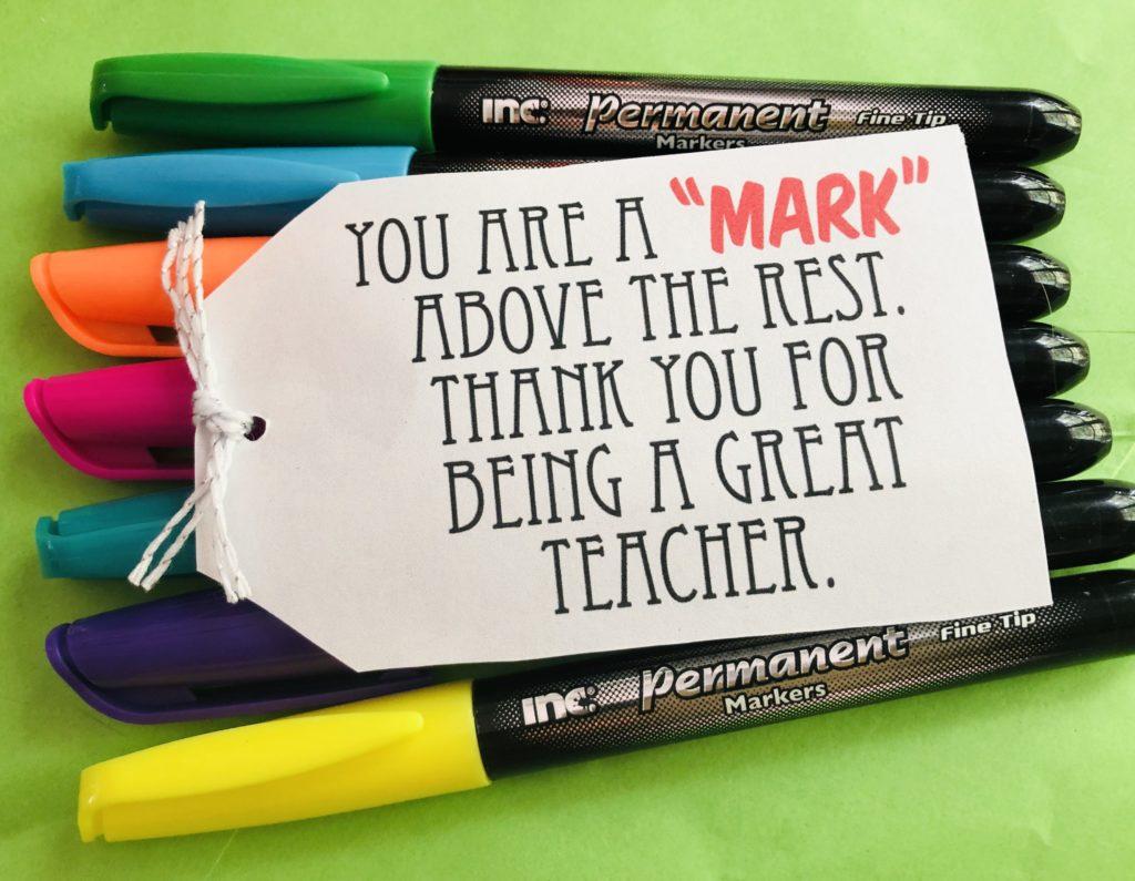 Simple Teacher Appreciation Gift