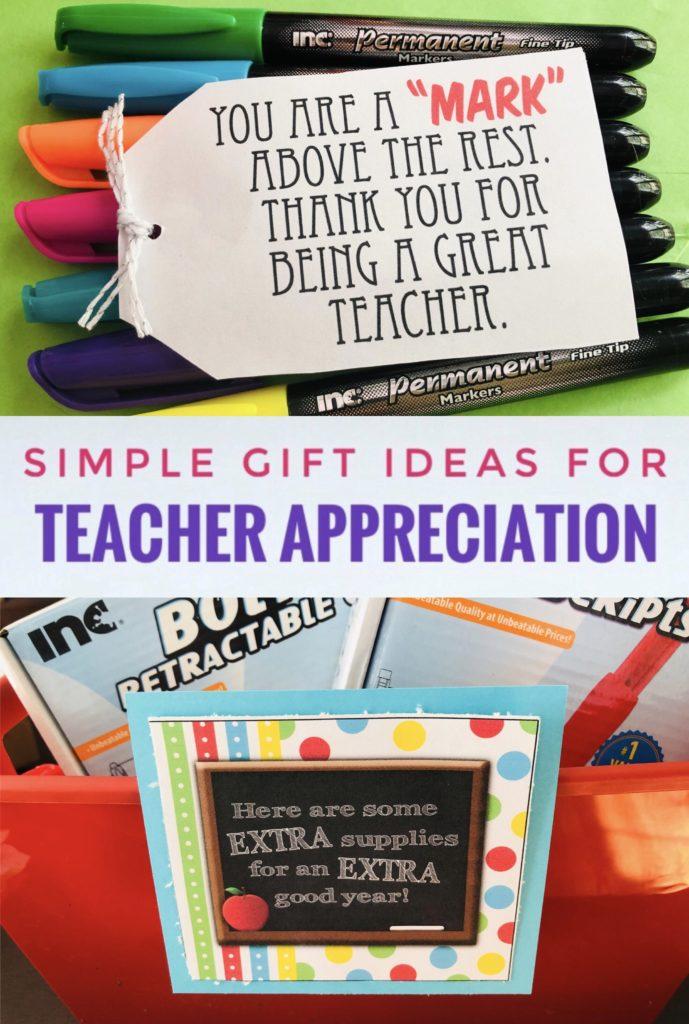 Simple Teacher Appreciation Ideas