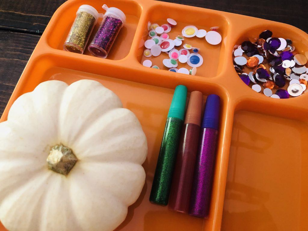 Pumpkin Craft Tray Organization