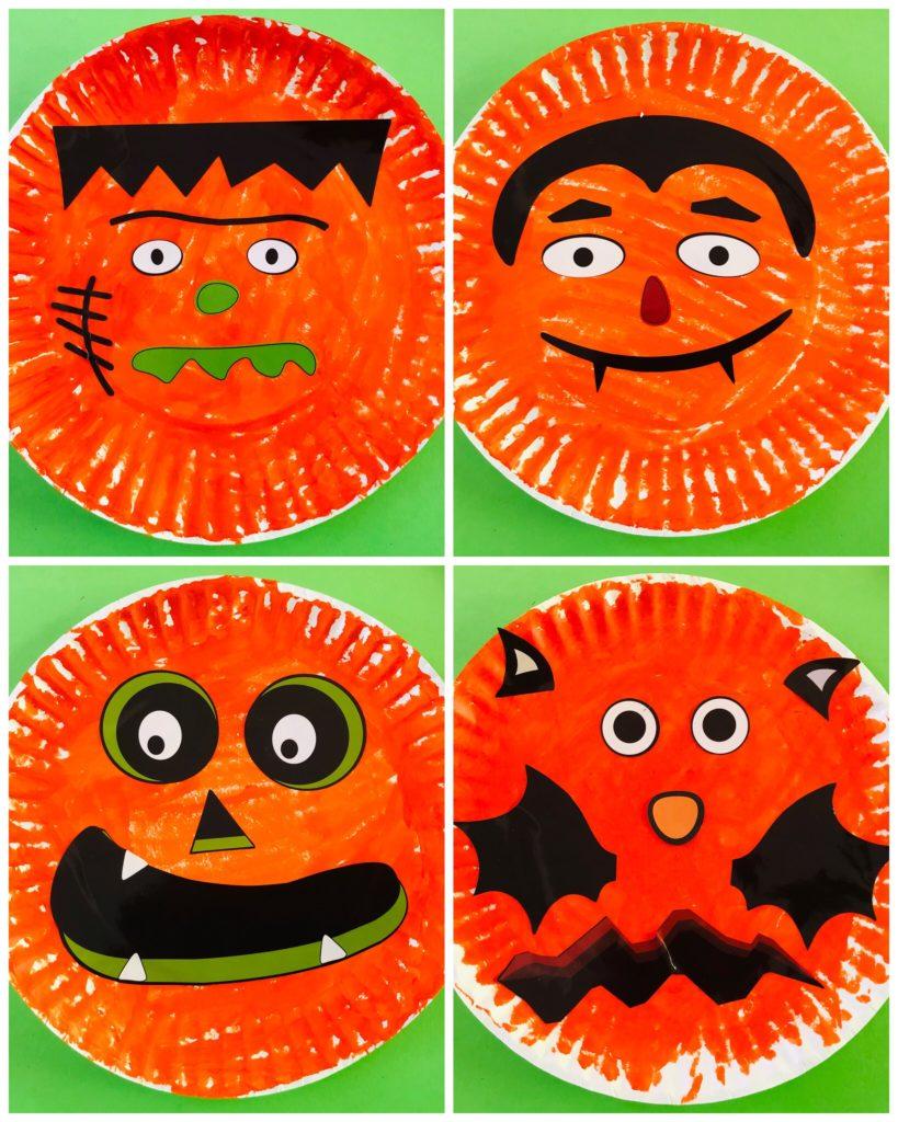 Paper Plate Jack-O-Lanterns Book Craft for Five Little Pumpkins