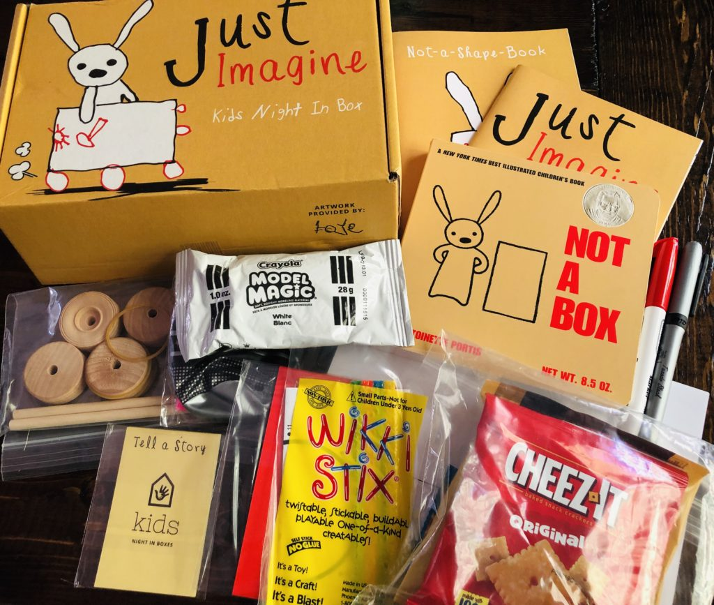 Kids Night in Subscription Box supplies included
