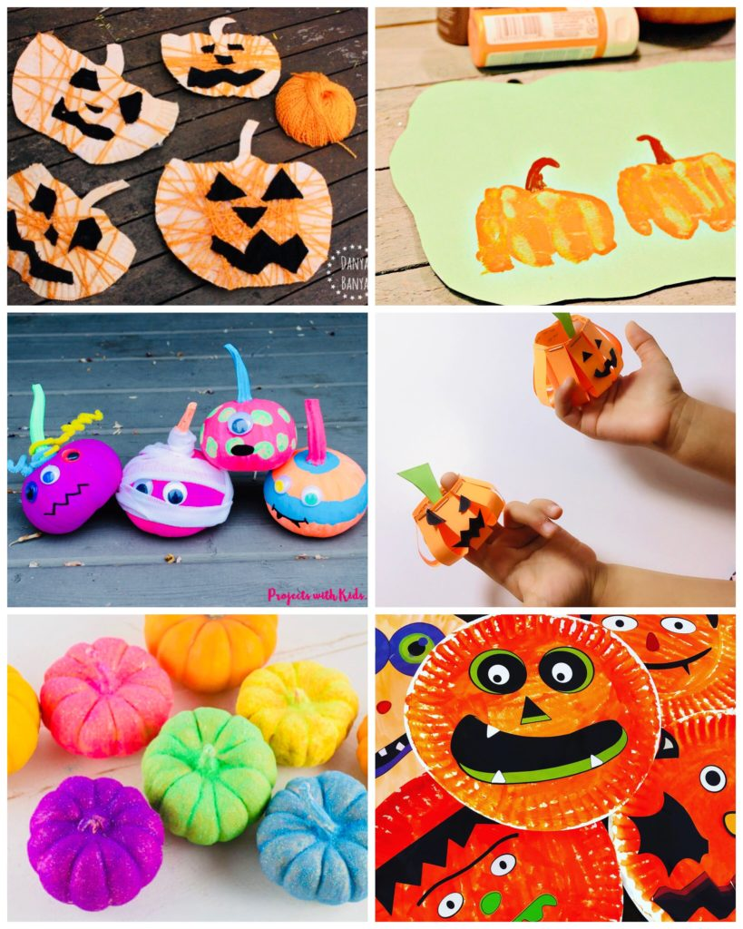 Pumpkin Crafts for Toddlers and Preschoolers