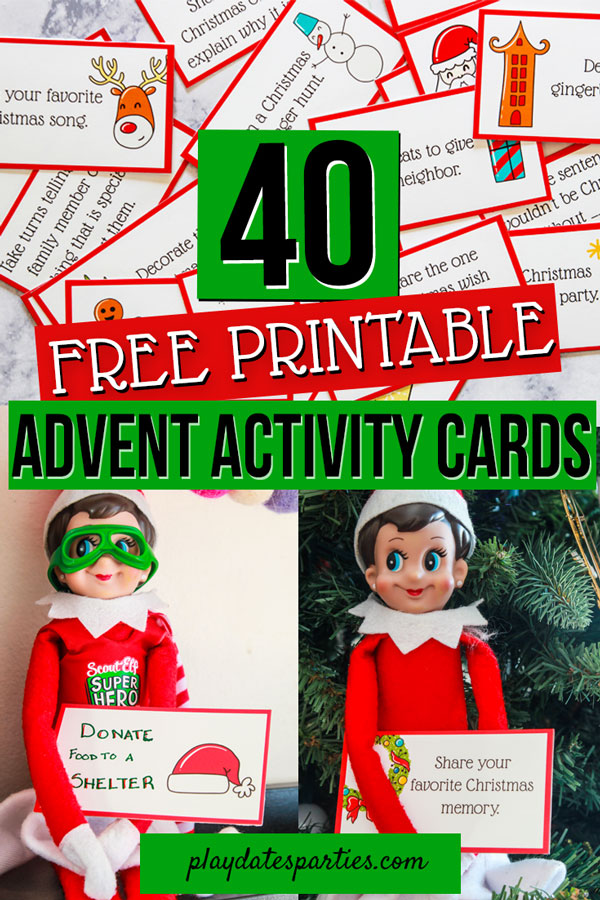 Advent Activity Printables   Making Elf on the Shelf Ridiculously Easy
