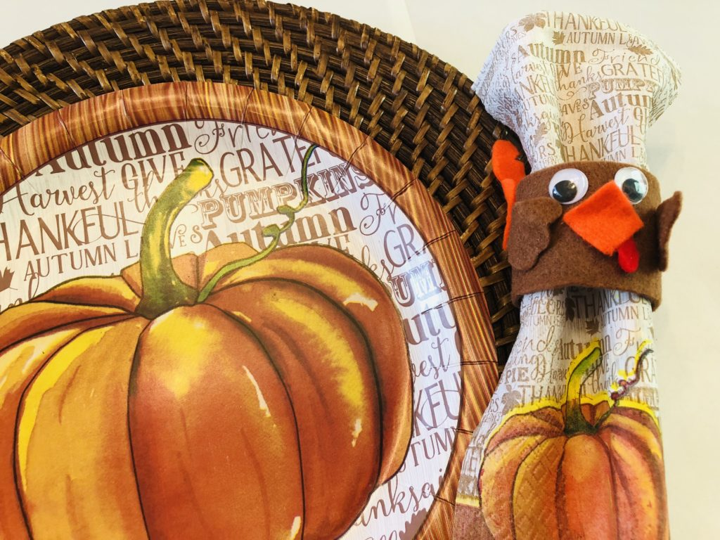 Thanksgiving Paper plate place setting