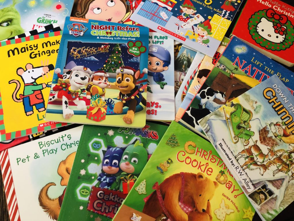 Books for Christmas Advent - use what you already have at home.