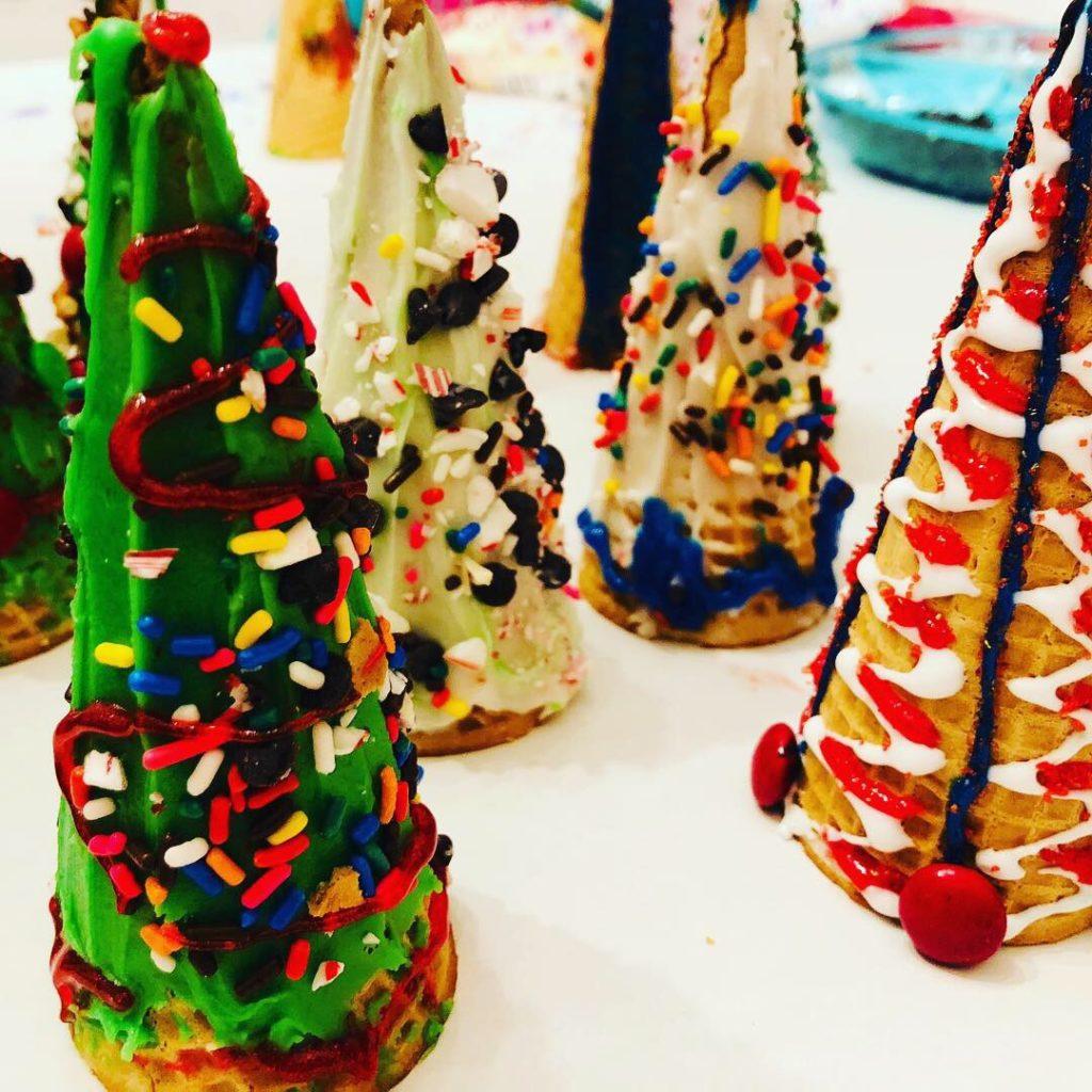 Sugar Cones Christmas Trees
