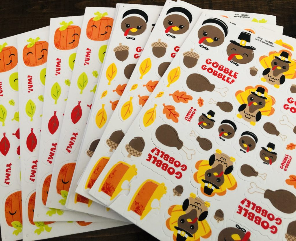 Silly Thanksgiving Foam Stickers
