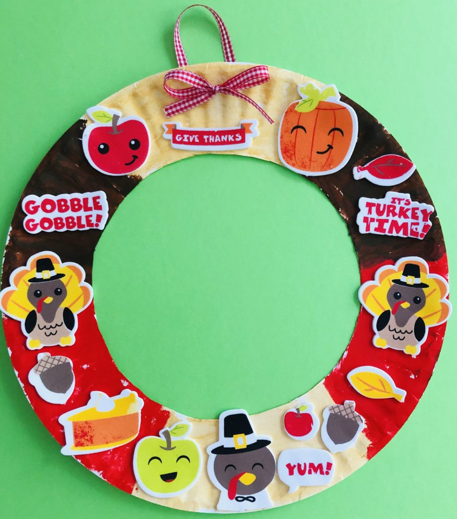 Thanksgiving Paper Plate Wreath Craft
