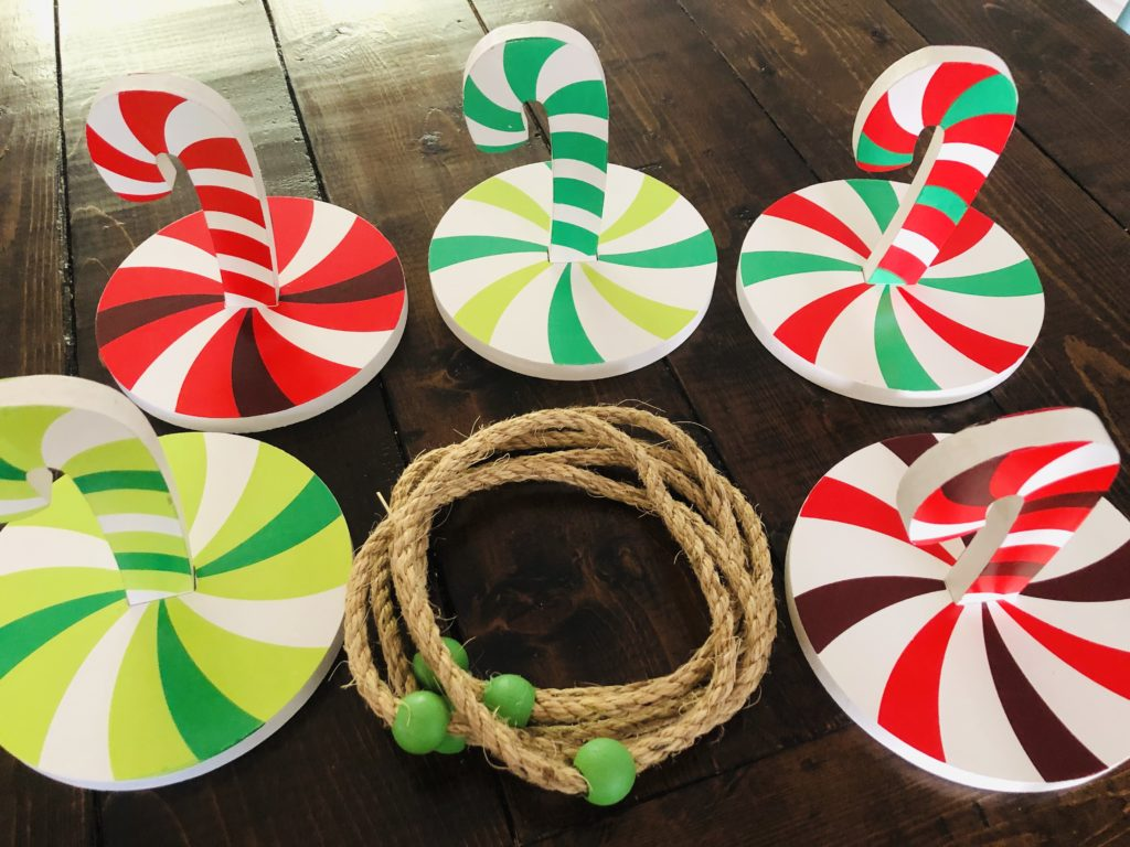 Candy Cane Ring Toss Game for Class Parties