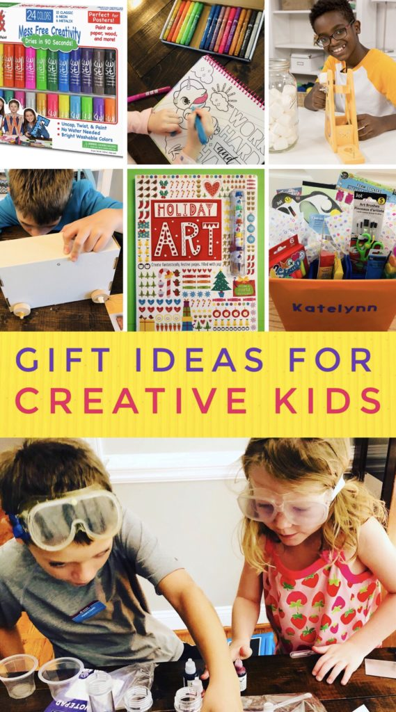 Gift Ideas for Creative Kids include supplies, monthly subscriptions, and activity kits.