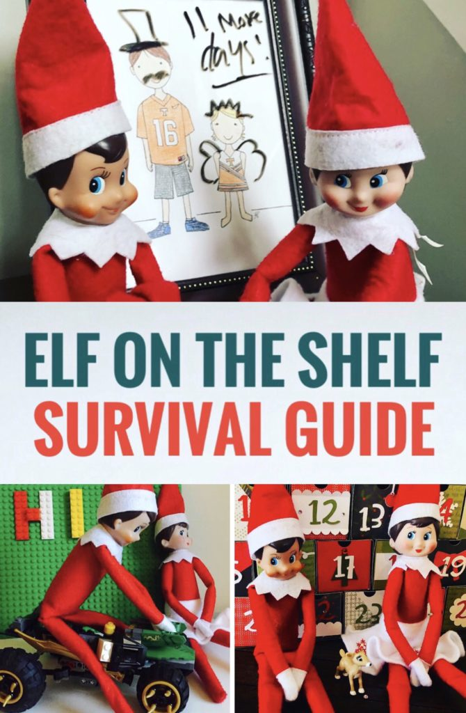 Don't stress this holiday season with this Elf on the Shelf Survival Guide. Find easy ideas for the arrival and what to do if you forget.