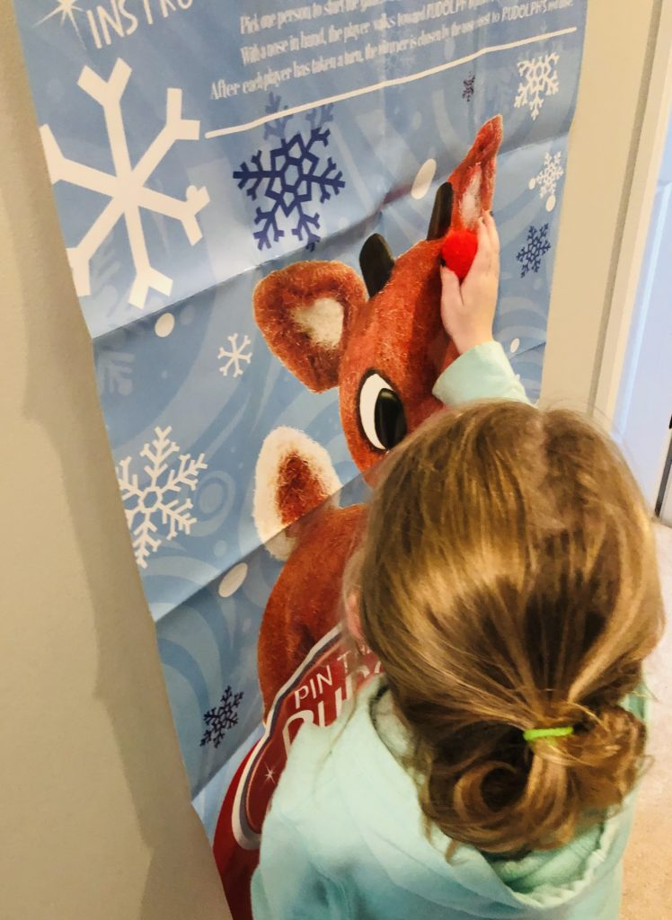 Pin the Nose on Rudolph Party Game
