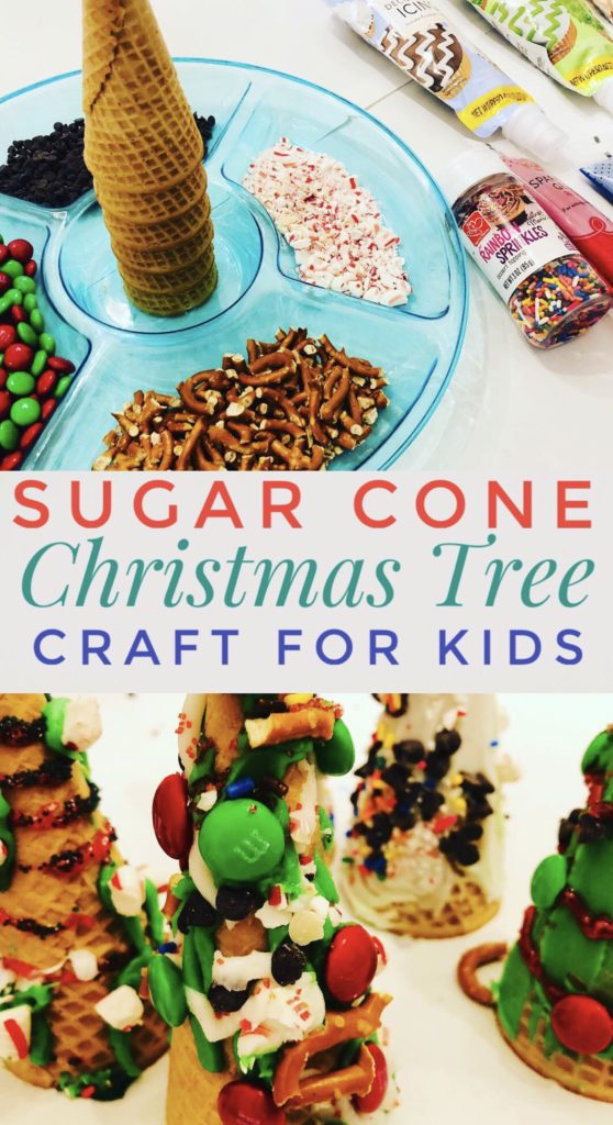 Sugar Cone Christmas Tree Craft for Kids - Fun and Easy Holiday Activity