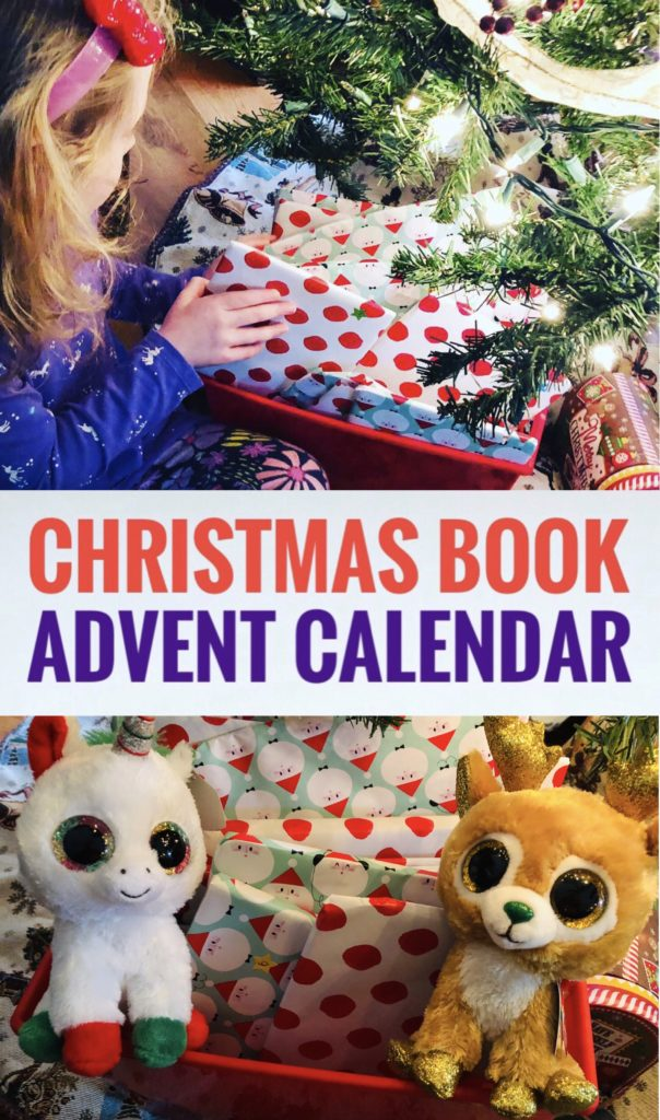 Start a fun family tradition this holiday season with a Christmas Book Advent Calendar. Use library books, dollar store books and books you have on hand.