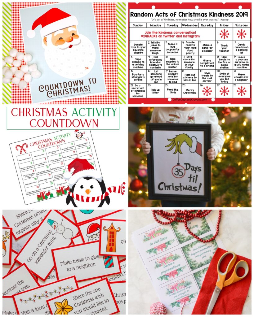 Free Printable Christmas Countdown Ideas