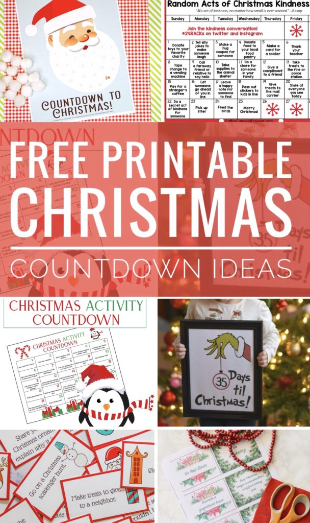 Check out these 10 amazing Free Printable Christmas Countdown Ideas to help your family count down to the big day. Lots of fun Advent Activities.