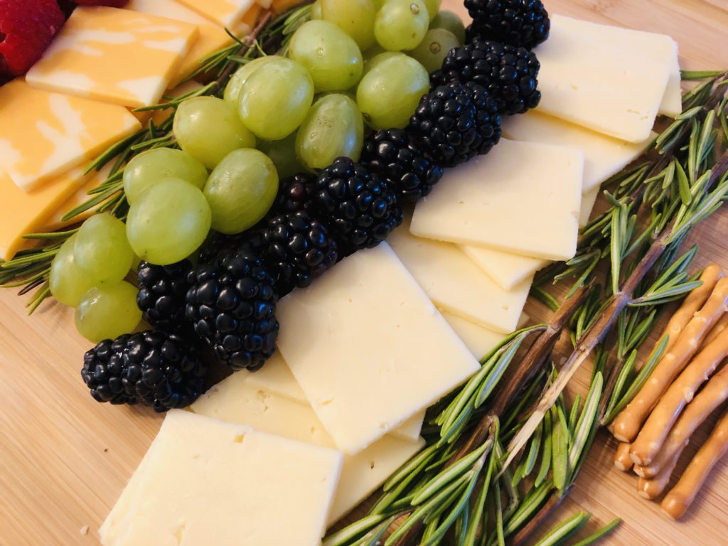 Creating a Christmas Tree Fruit and Cheese Board